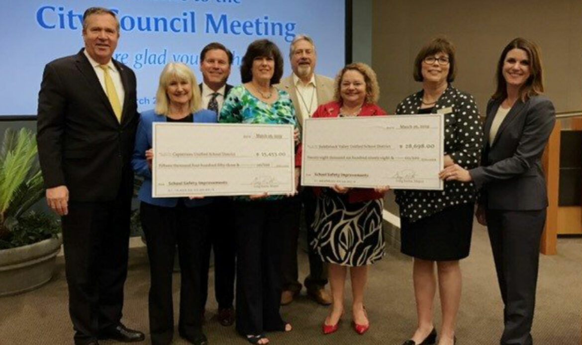 City of Mission Viejo Presents CUSD with $15,453 Check