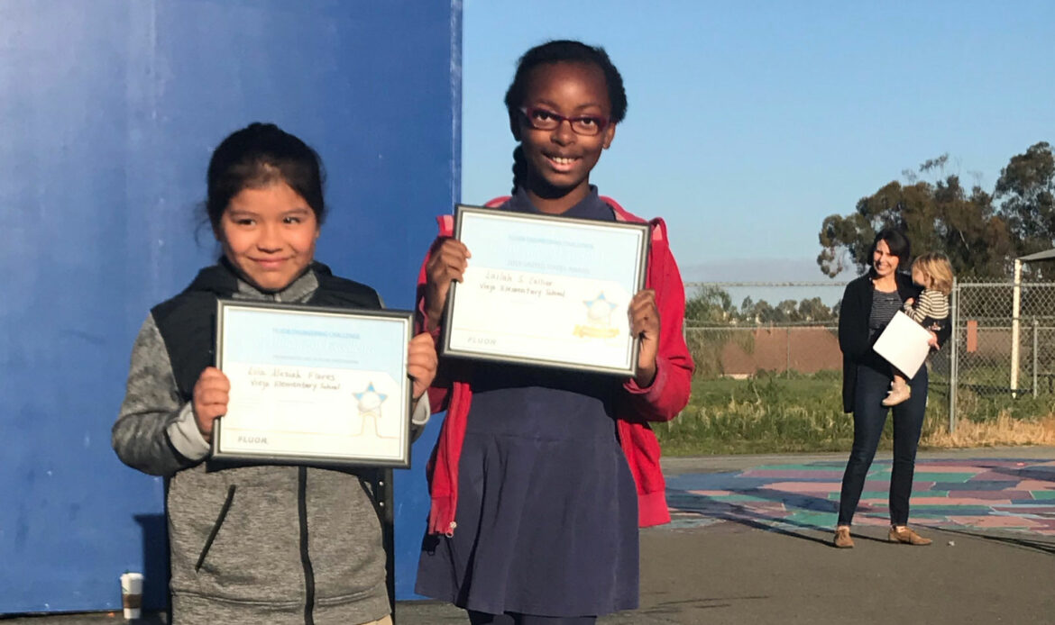 Viejo Elementary Students' Projects Recognized by Fluor Corporation