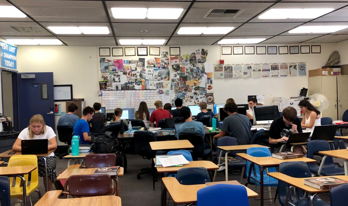 Student Journalists in Dana Hills High School Newspaper Class Learn the Craft of Writing and Reporting